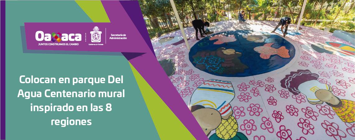 Colocan en parque Del Agua Centenario   mural inspirado en las 8 regiones