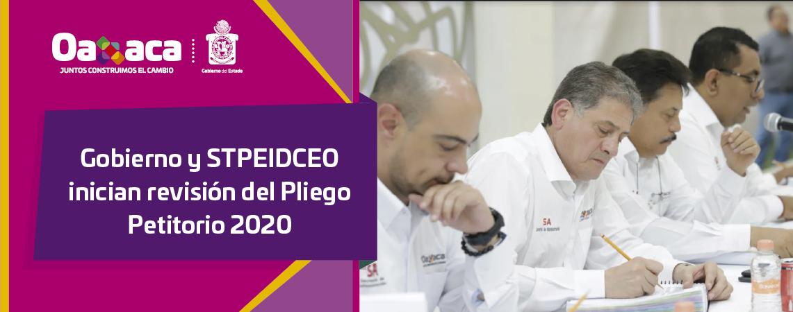 Gobierno y STPEIDCEO inician revisión del Pliego Petitorio 2020
