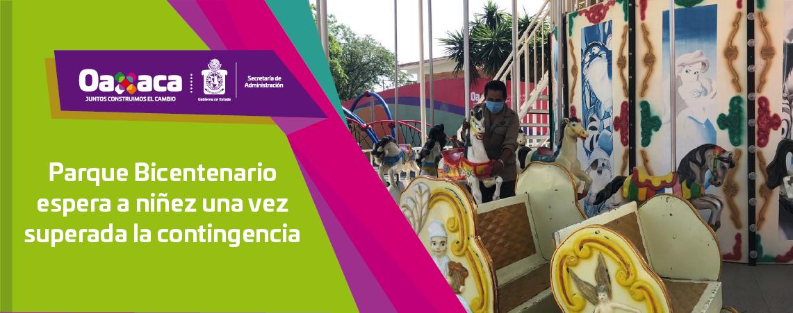 Parque Bicentenario espera a niñez una vez superada la contingencia