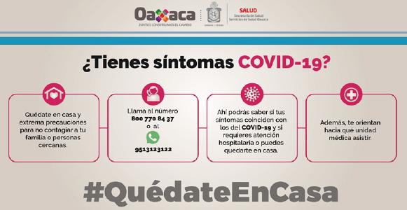 Qué hacer ante síntomas COVID-19; el Gobierno te informa
