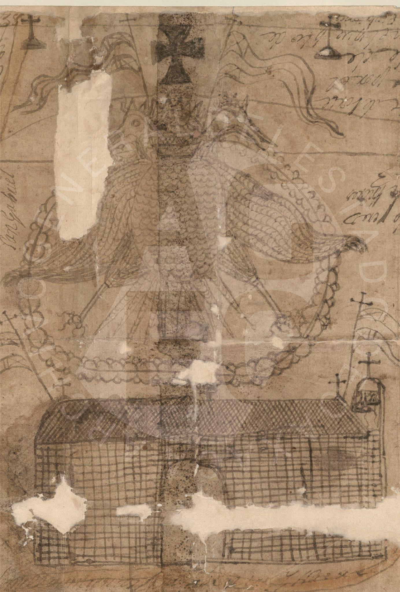 Detalle águila, Mapa Capulálpam