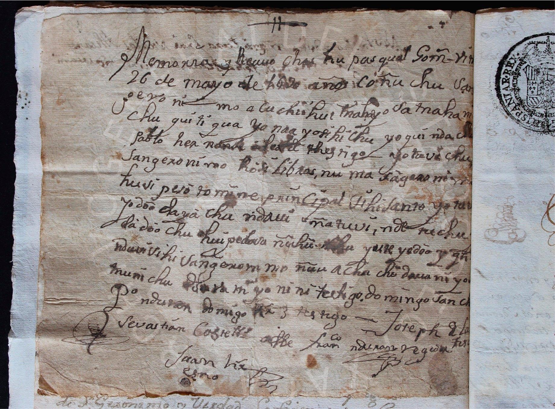 Lenguas mesoamericanas en juicios del siglo XVIII