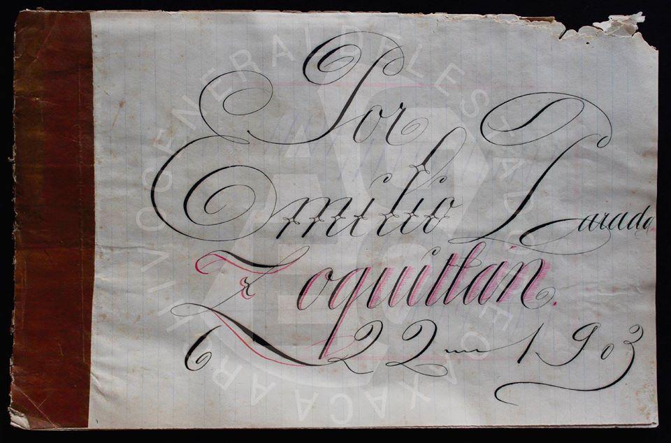 Tareas escolares de caligrafía en la primera mitad del siglo xx
