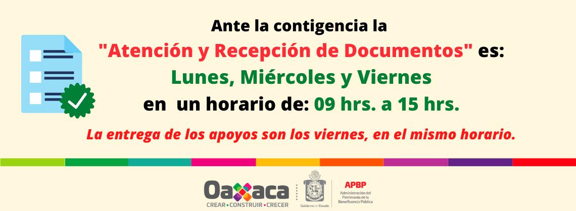 Atención y Recepción de Documentos