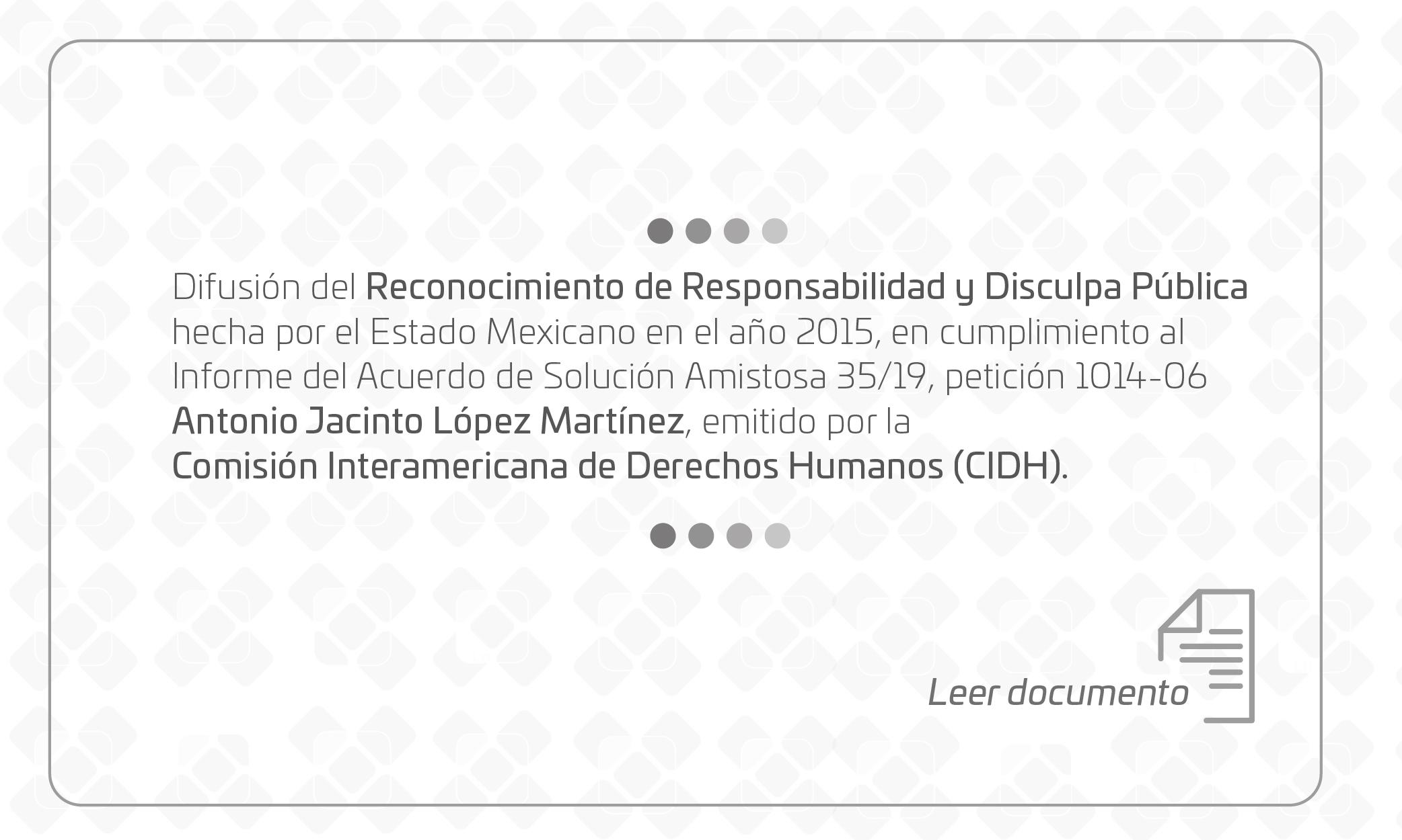 Reconocimiento de responsabilidad y disculpa pública en Español y Traducción Triqui San Martín Itunyoso