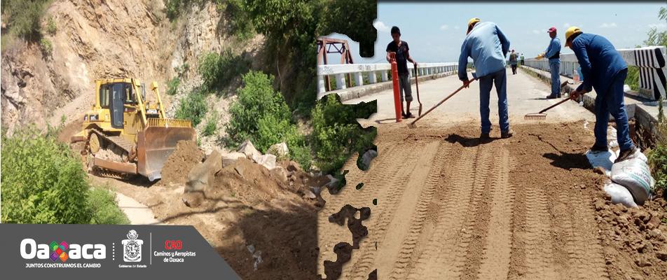 Mantiene CAO trabajos en red carretera afectada por sismo del 7 de septiembre.