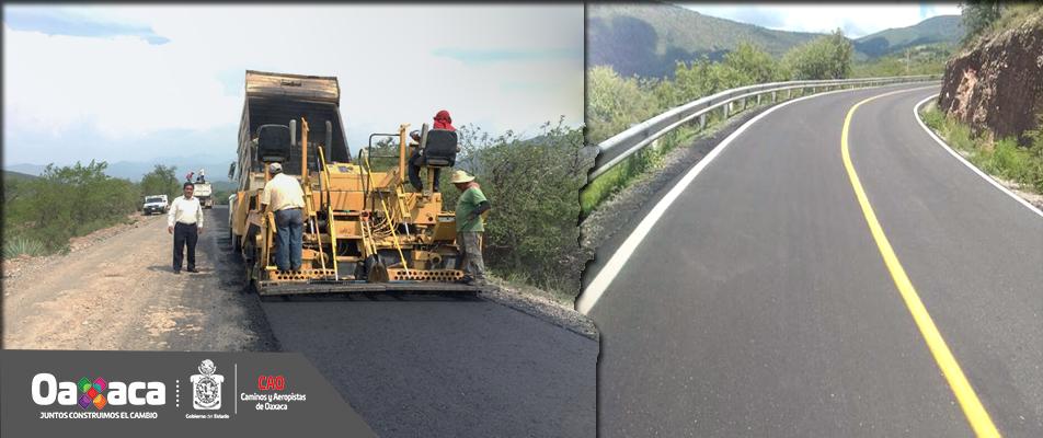CAO concluye Obras carreteras en la Mixteca.