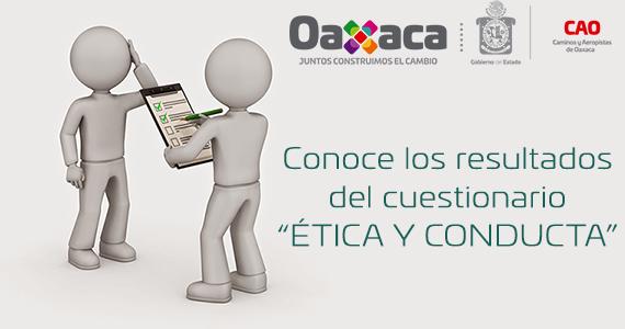 """CONOCE LOS RESULTADOS DEL CUESTIONARIO """"ÉTICA Y CONDUCTA"""""""