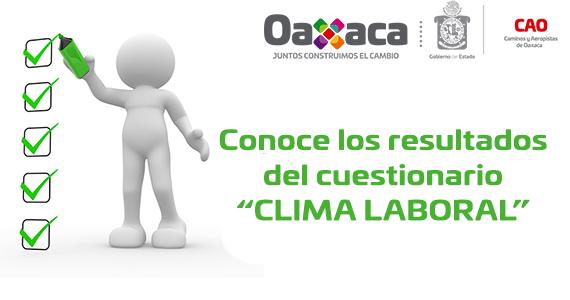 """CONOCE LOS RESULTADOS DEL CUESTIONARIO """"CLIMA LABORAL"""""""