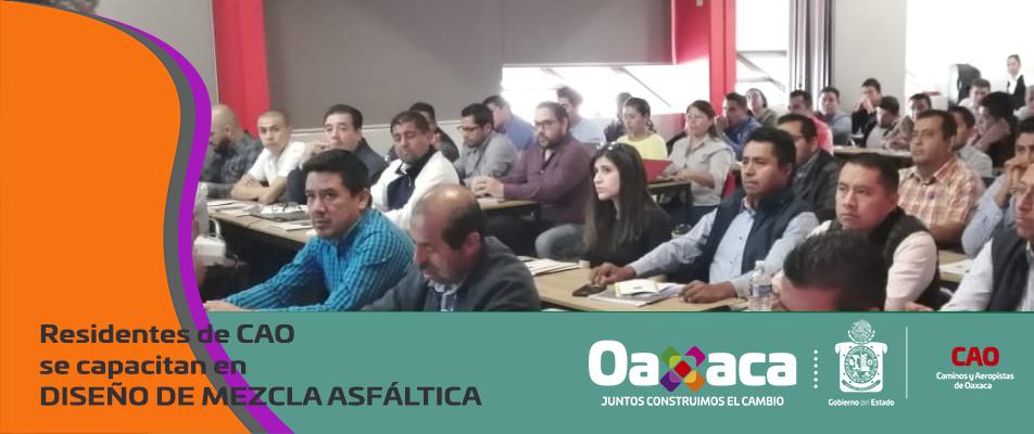 Residentes de CAO se capacitan en DISEÑO DE MEZCLA ASFÁLTICA.