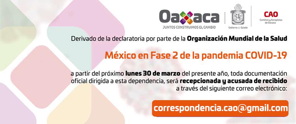 México en Fase 2 de la pandemia COVID-19