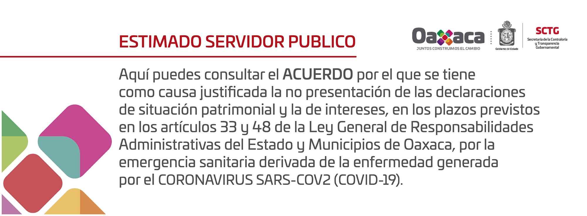 ESTIMADO SERVIDOR PÚBLICO AQUÍ PUEDES CONSULTAR EL ACUERDO