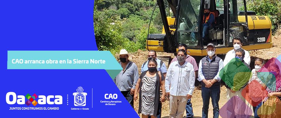 CAO arranca obra en la Sierra Norte.