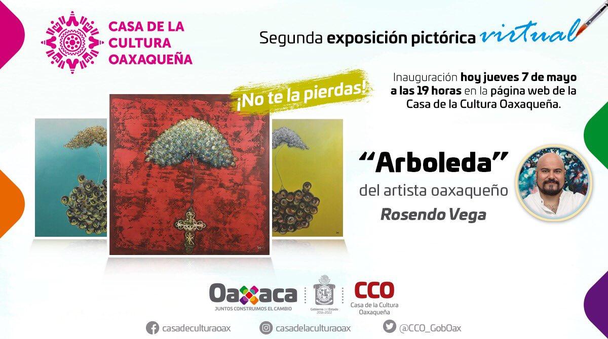 """""""Arboleda"""" de Rosendo Vega, segunda exposición pictórica virtual de la CCO"""