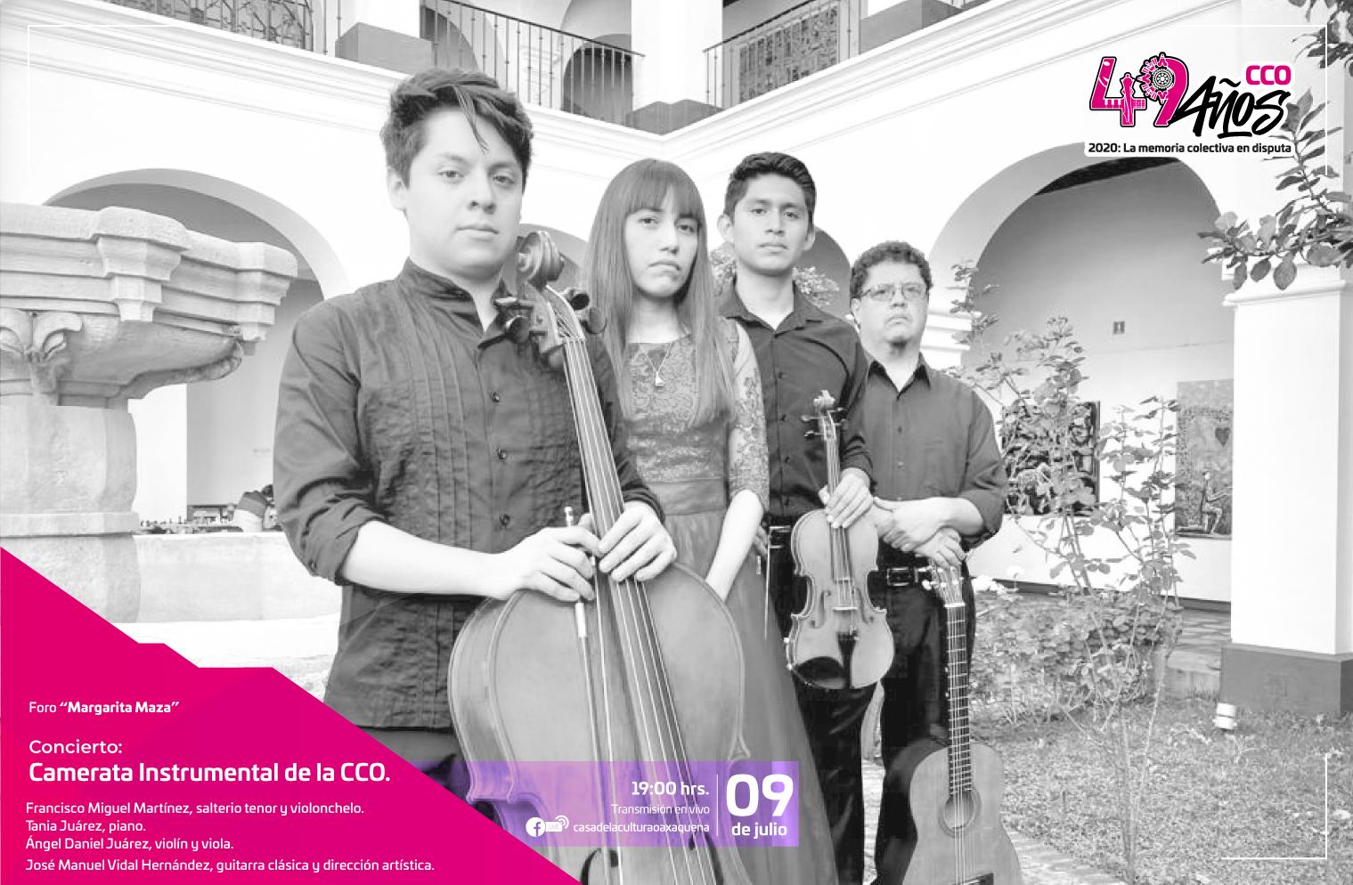 Ofrecerá la Camerata Instrumental de la CCO concierto virtual de música clásica