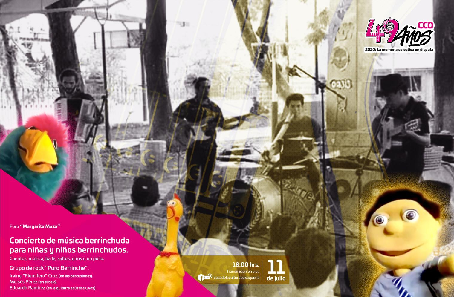 Cerrarán aniversario de la CCO con música para niñas y niños berrinchudos