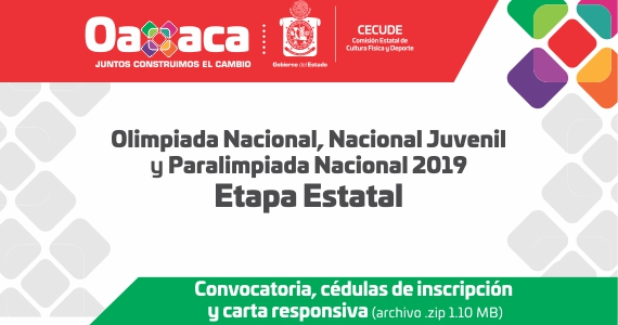 Documentos Olimpiada Nacional, Nacional Juvenil y Paralimpiada Nacional 2019