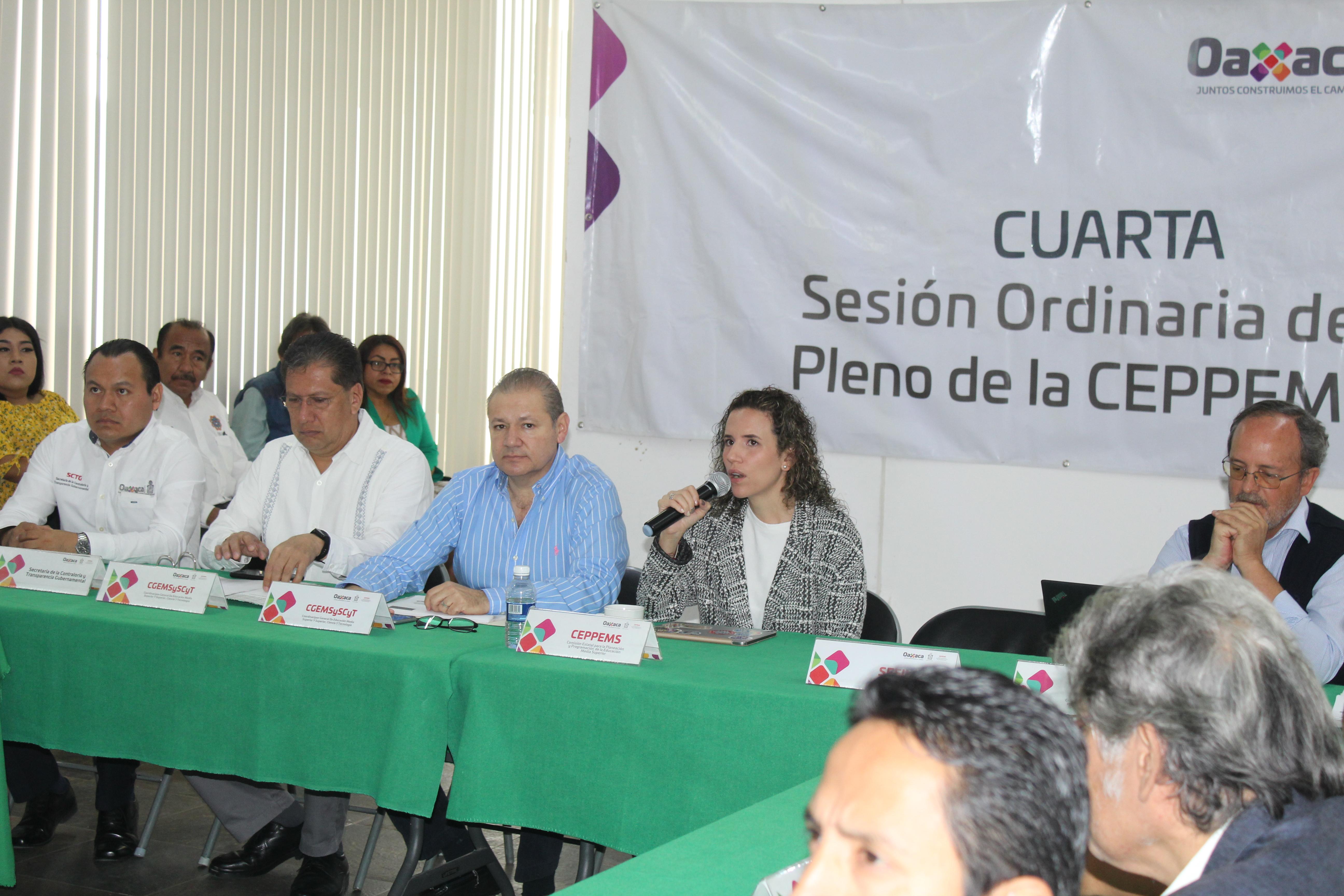Cuarta Sesión Ordinaria del pleno de la CEPPEM