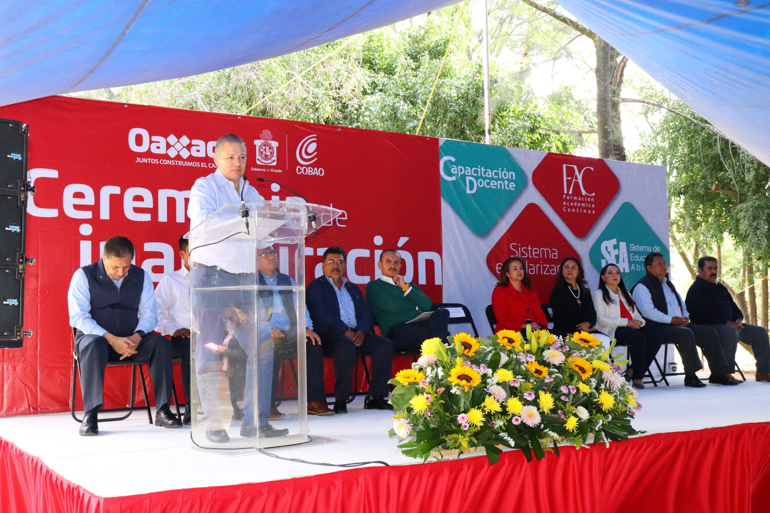 Inauguración de la Capacitación Docente Enero 2020 del Colegio de Bachilleres del Estado de Oaxaca