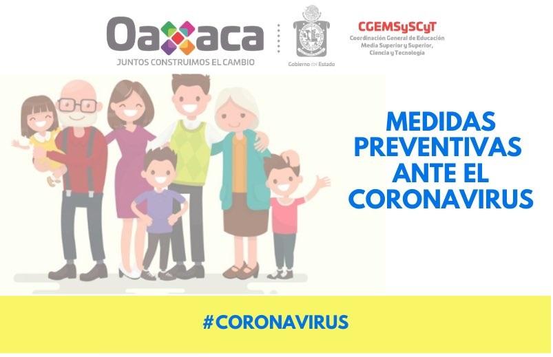 Recomendaciones en contra del contagio del Coronavirus Covid-19