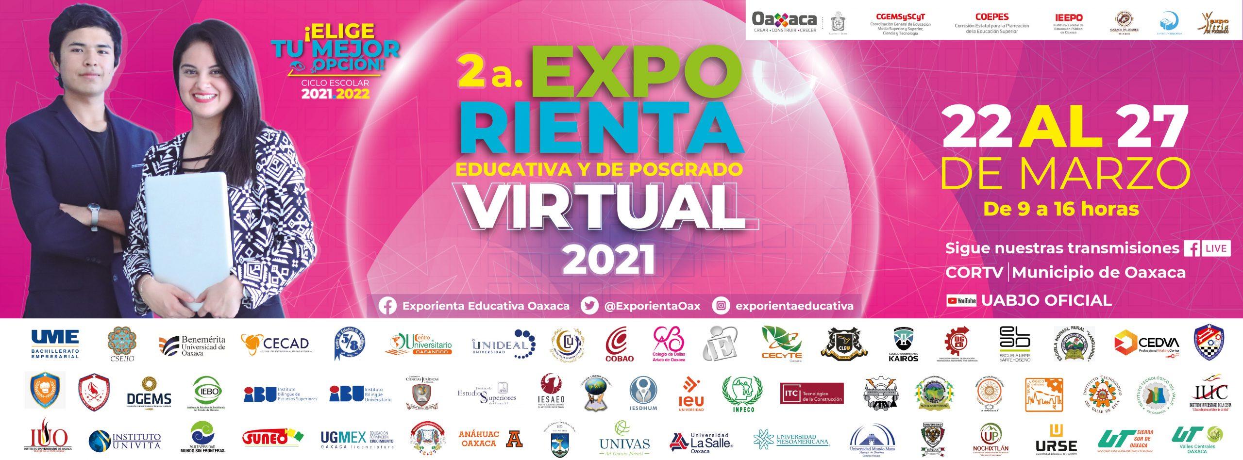 2a. EXPORIENTA EDUCATIVA Y DE POSGRADO VIRTUAL 2021