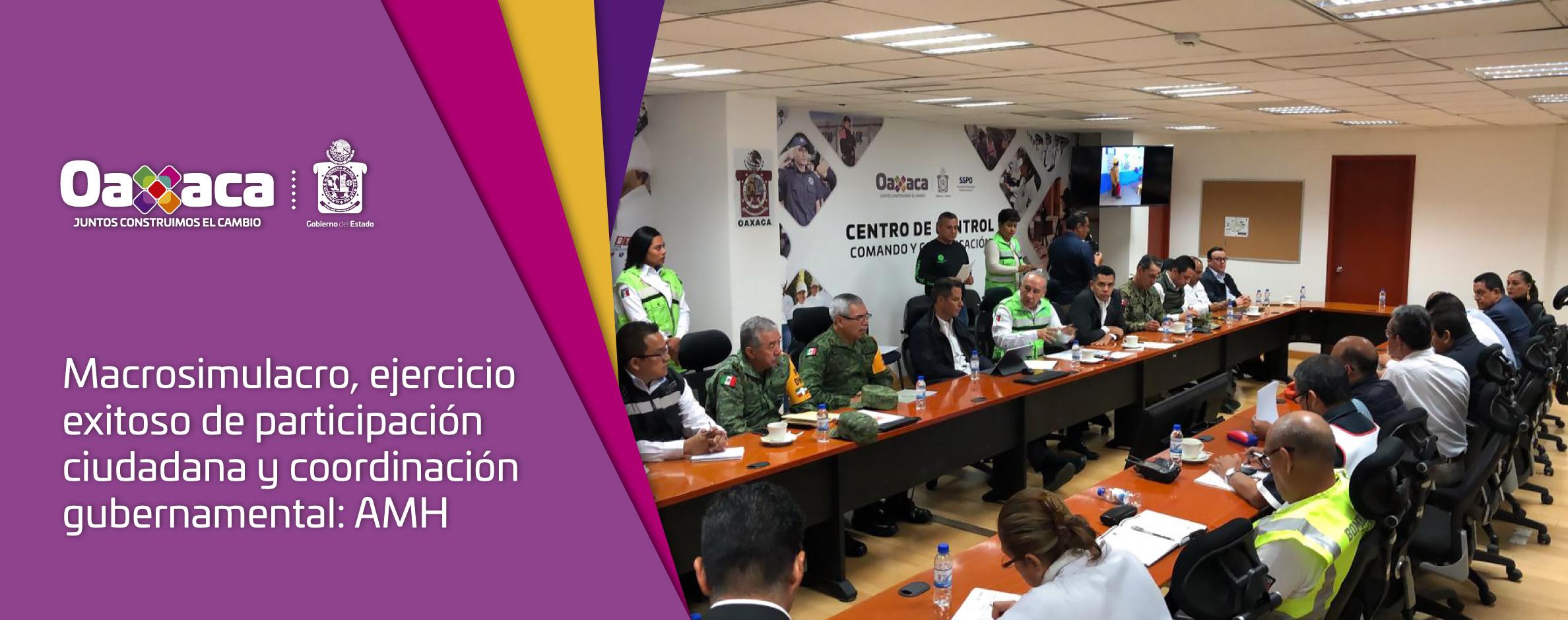 Macrosimulacro, ejercicio exitoso de participación ciudadana y coordinación gubernamental: AMH