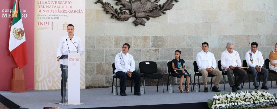 Con los ideales de Juárez, Oaxaca cierra filas ante los desafíos del país: AMH