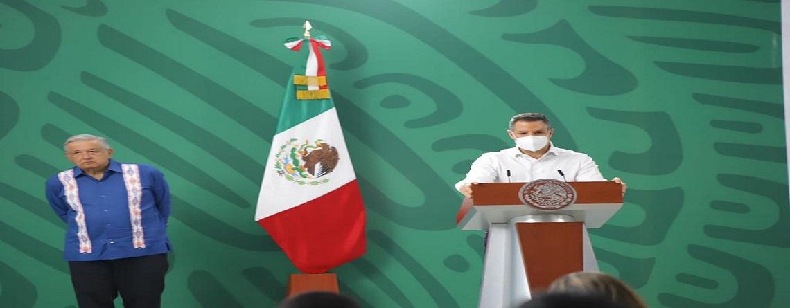 Reconoce Alejandro Murat respaldo del Gobierno de México  en materia de salud, seguridad e inversión