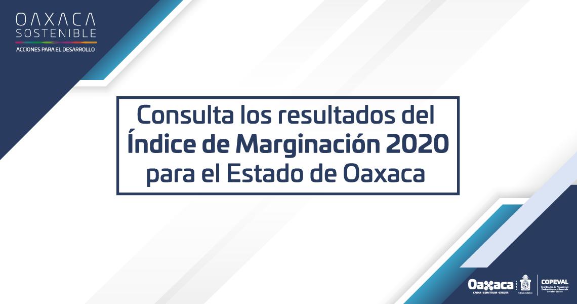 ÍNDICE DE MARGINACIÓN 2020