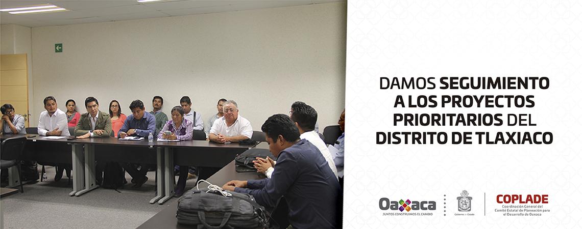 Damos seguimiento a los proyectos prioritarios del Distrito de Tlaxiaco