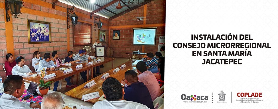 Instalación del consejo microrregional en Santa María Jacatepec