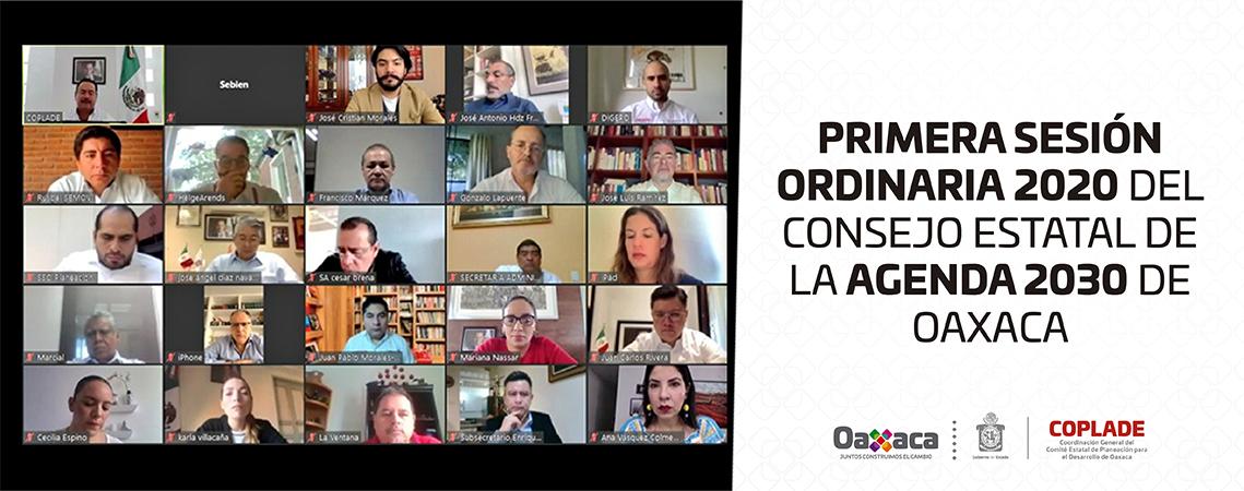 Primera Sesión Ordinaria 2020 del Consejo Estatal de la Agenda 2030 de Oaxaca