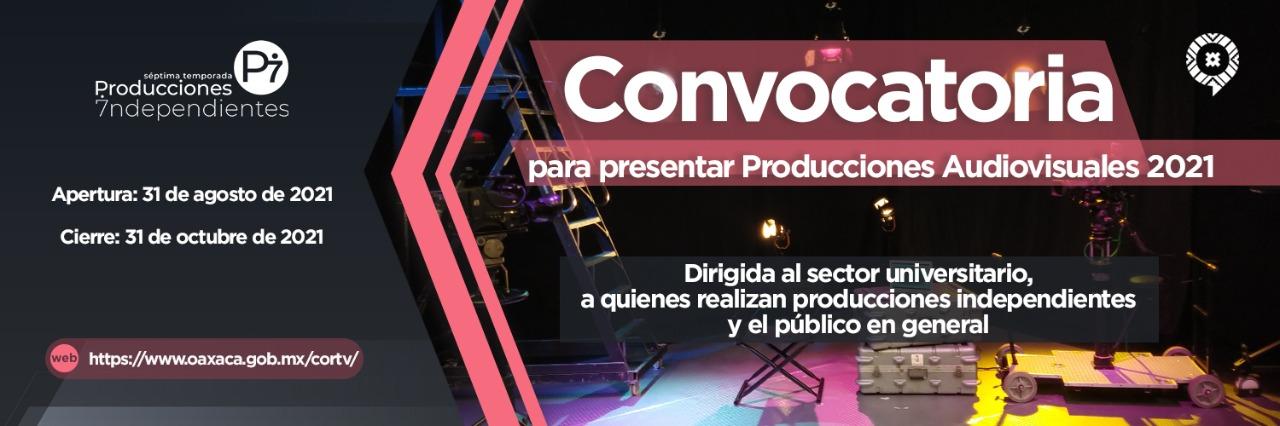 Convocatoria Producciones Audiovisuales 2021