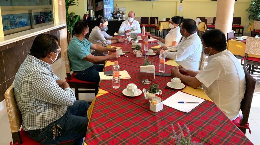 Reunión de trabajo en Salina Cruz con el Presidente de la Canaco – Servytur, Jesús Álvarez Domínguez e integrantes de la mesa directiva