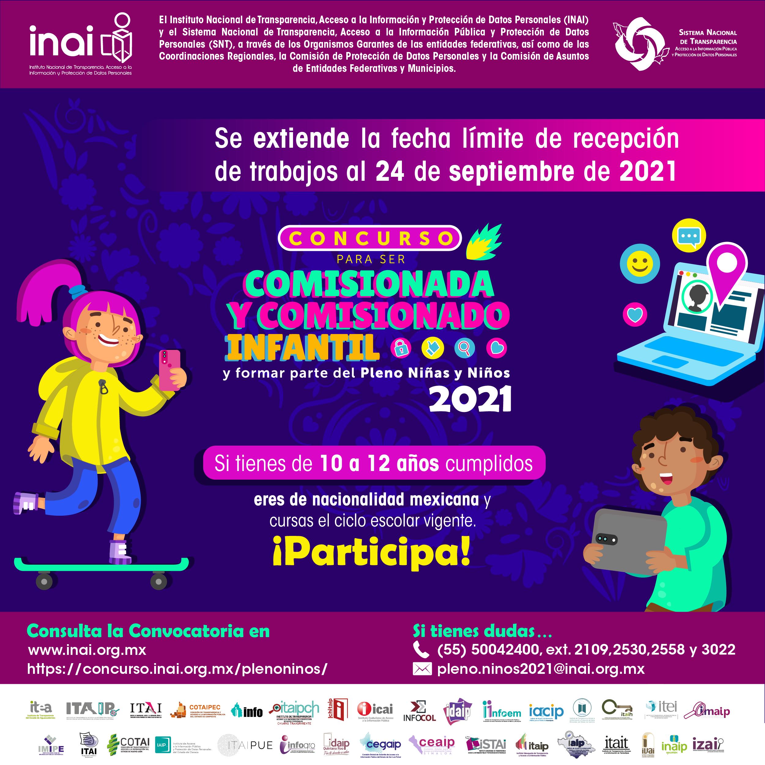 CONCURSO COMISIONADA Y COMISIONADO INFANTIL 2021