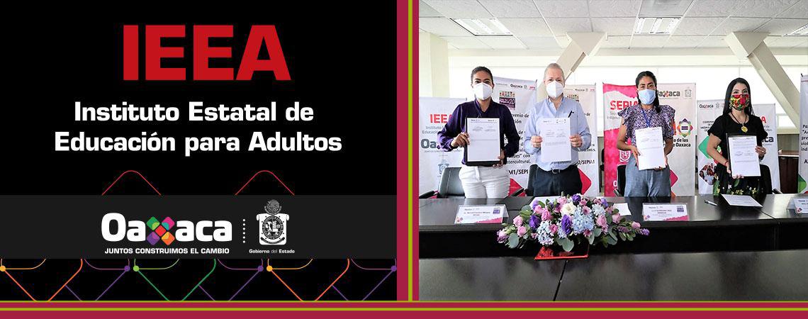 Firma IEEA Convenio con SEPIA, SMO y CGEMSyCyT por Oaxaca