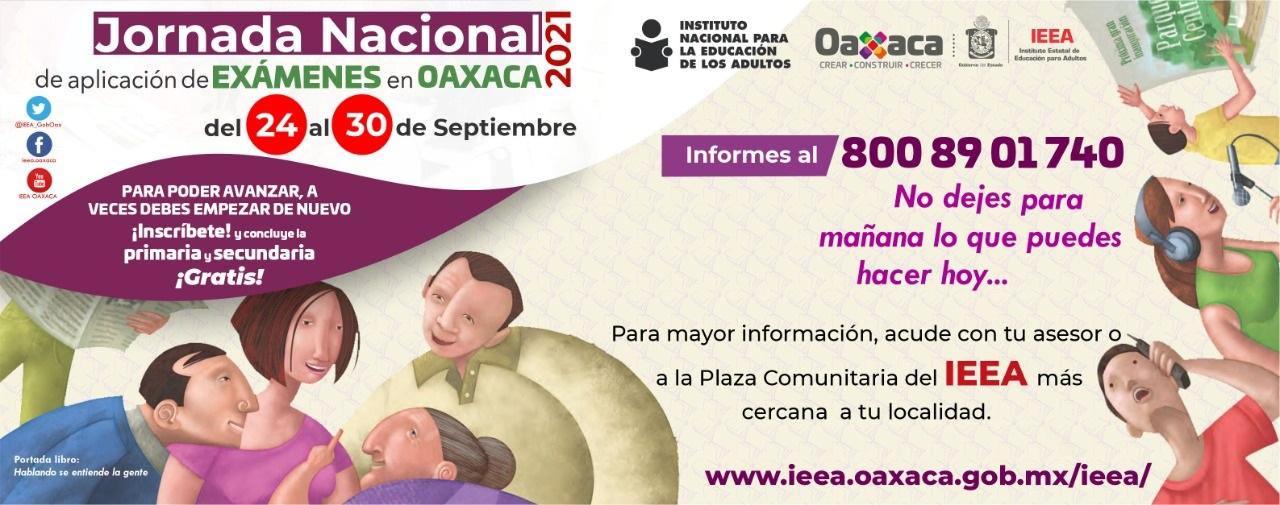 Concluye en septiembre tu primaria o secundaria gratis con el IEEA Oaxaca