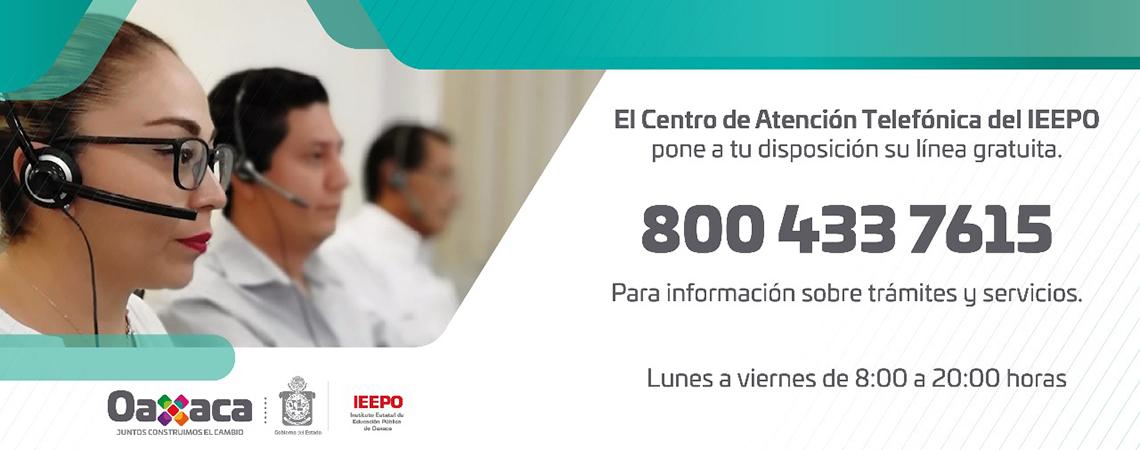 Centro de Atención Telefónica del IEEPO