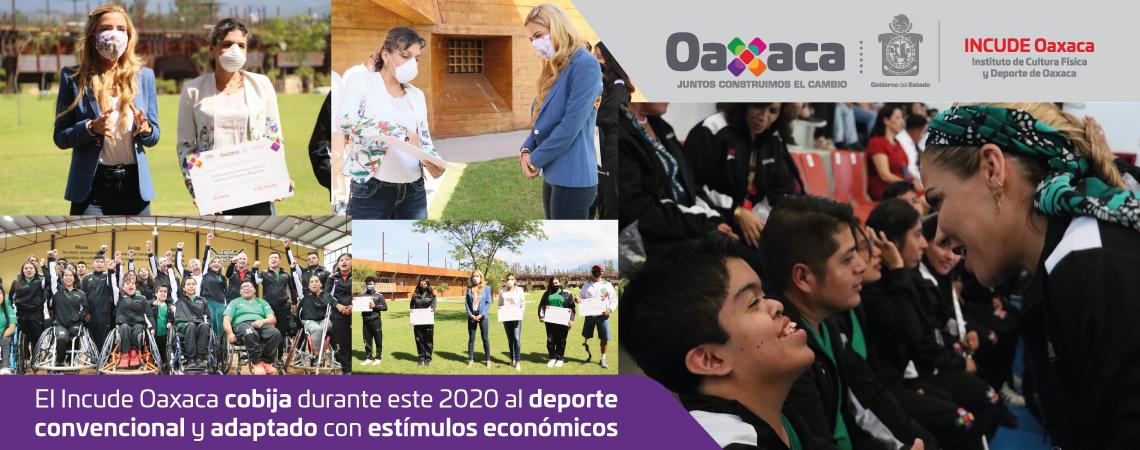 El Incude Oaxaca cobija durante este 2020 al deporte convencional y adaptado con estímulos económicos