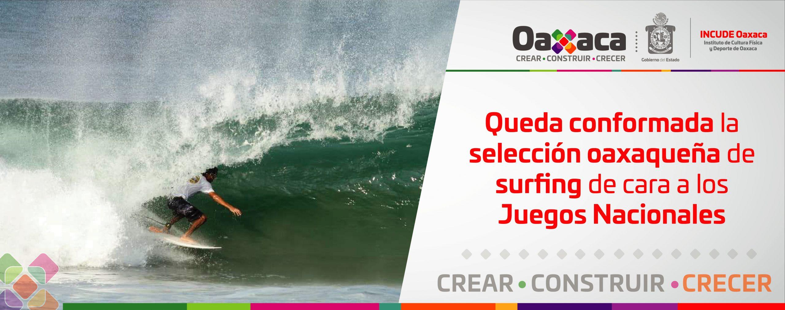 Queda conformada la selección oaxaqueña de surfing de cara a los Juegos Nacionales Conade