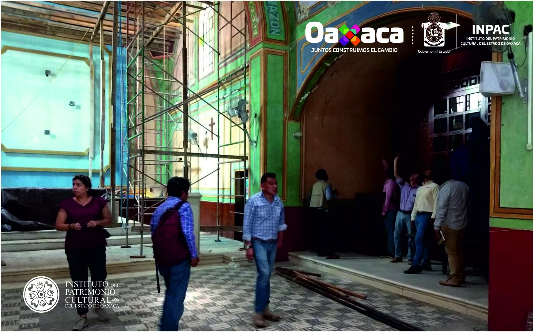 INPAC supervisa obra del Templo de la Inmaculada Concepción en Santa María Huatulco