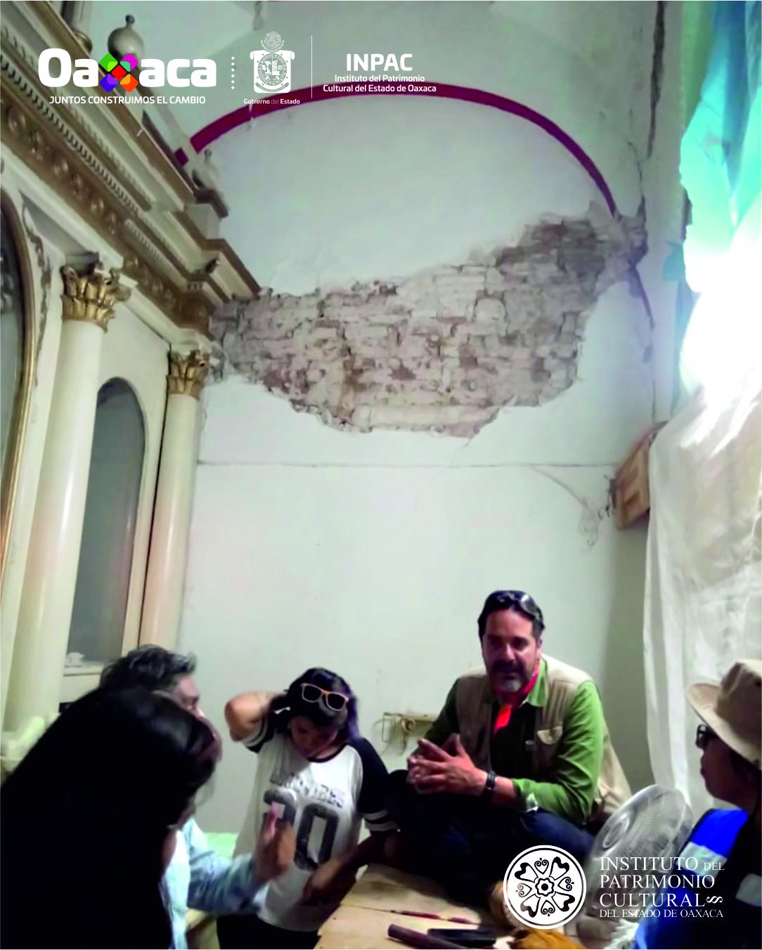 Visitan arquitectos del#INPACTemplo de San Pedro Shihui en San Blas Atempa, por supervisión de obras
