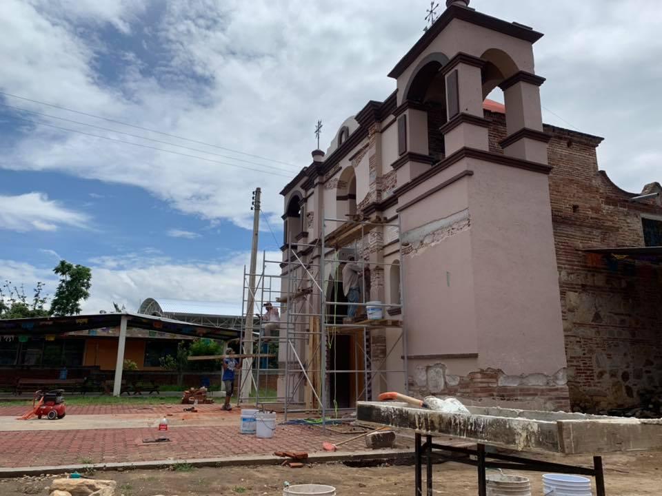 Avances de la restauración del Templo de San Nicolás Quialana