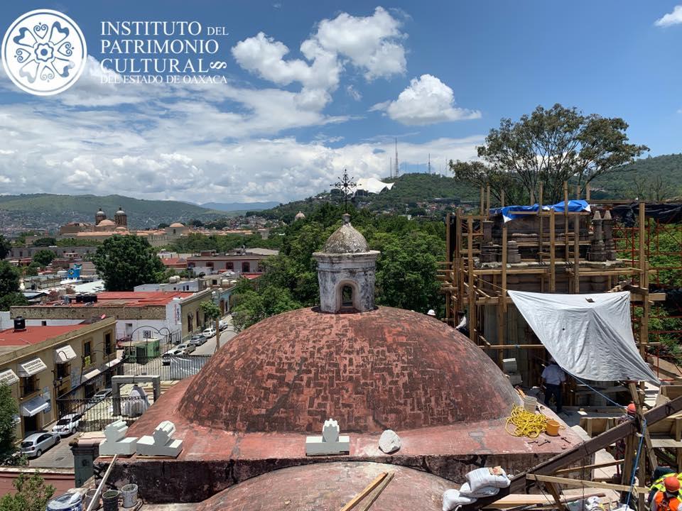 Avances de la obra de restauración en la iglesia del Patrocinio