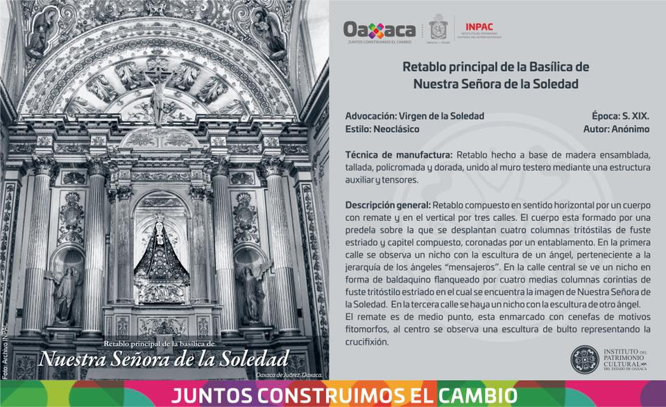 Retablo principal de la Basílica de Nuestra Señora De La Soledad
