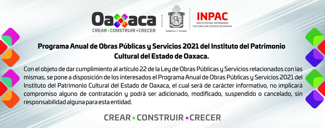 Programa Anual de Obras Públicas y Servicios 2021