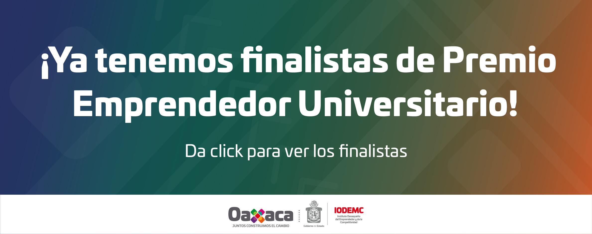 Finalistas de Premio Emprendedor Universitario