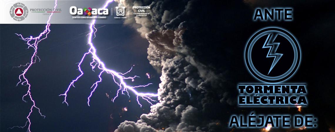 Alerta Aléjate ante tormentas eléctricas