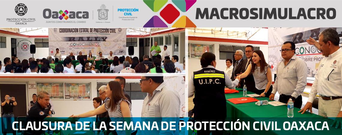 Clausura de la semana de Protección Civil Oaxaca