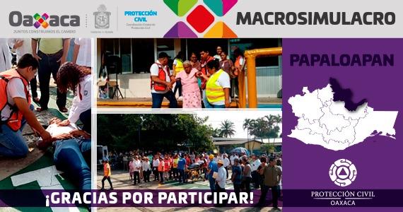 Cuenca del Papaloapan gracias por participar en el MACROSIMULACRO 2019